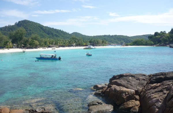 Clear water in front of Redang Reef Resort