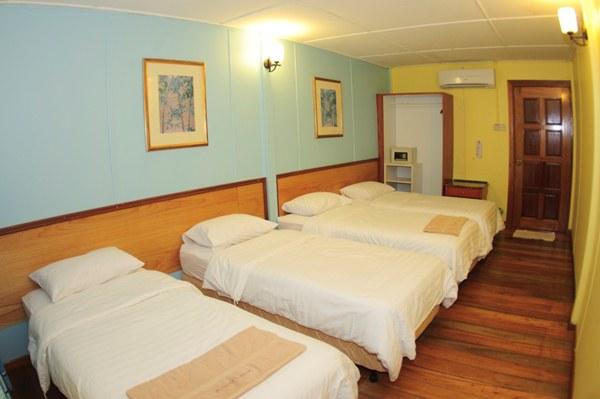 Redang Kalong Resort Sea View Quad Room Interior